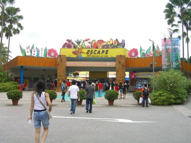 Escape theme park
